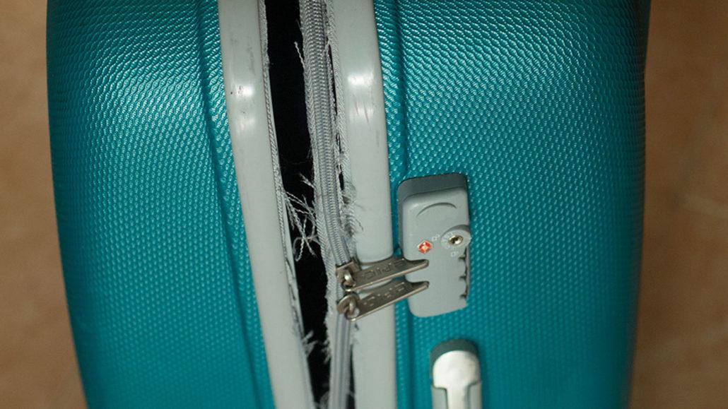 trasig resväska